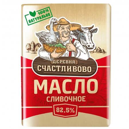 Масло сливочное Деревня Счастливово